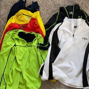 Men's athletic quarter zip bundle